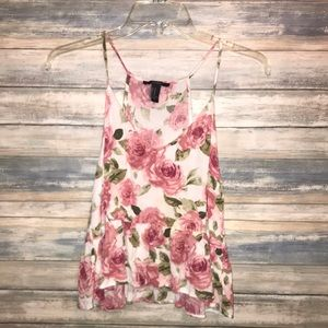 Forever 21 crop flower print  blouse